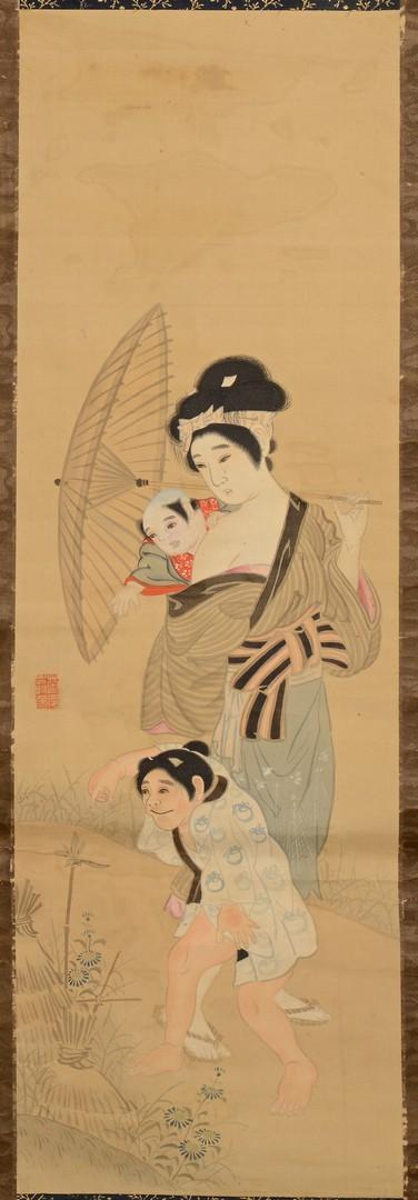 Lot 3832407: 2 Japanese Scrolls Paintings w/ Females