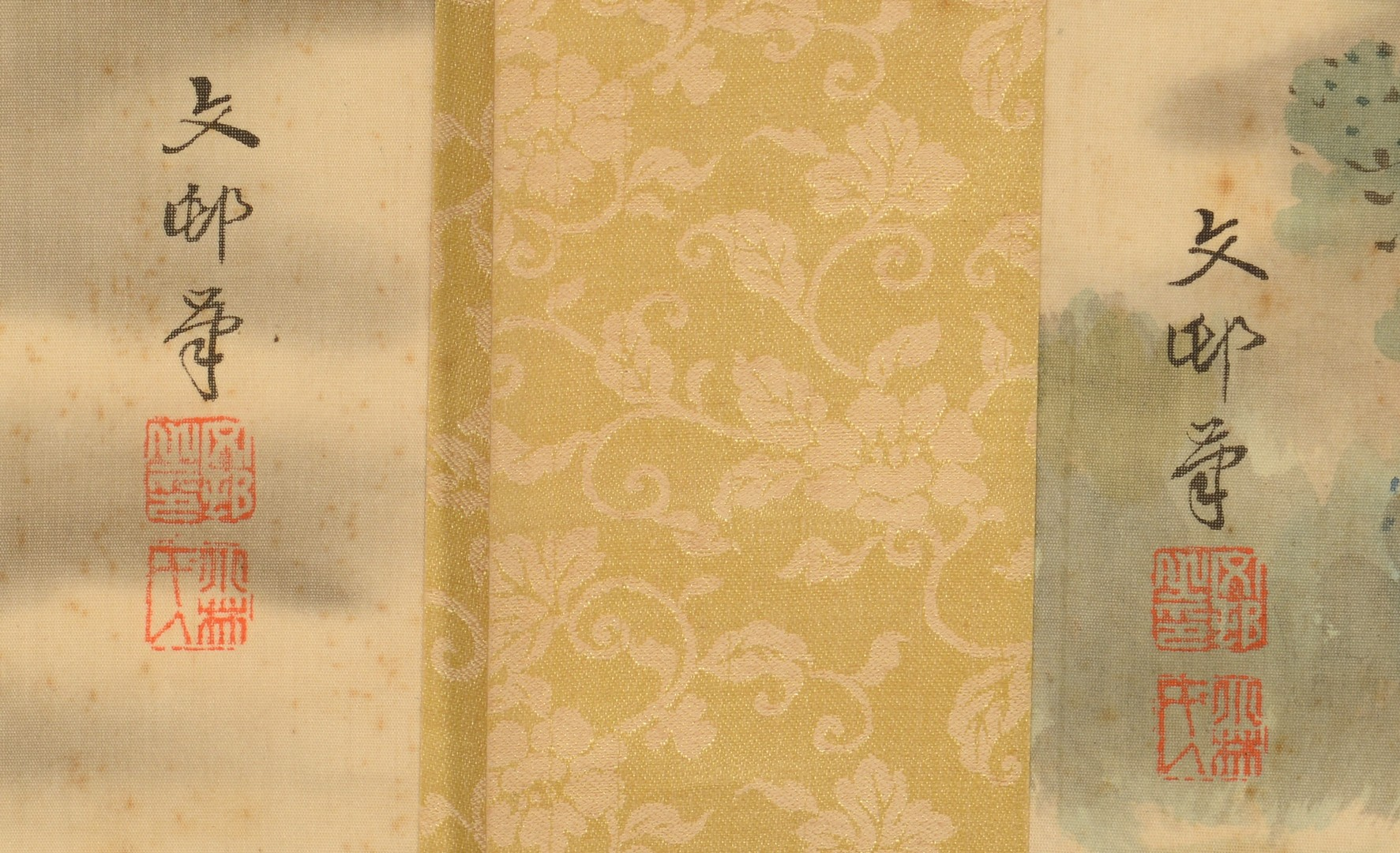 Lot 3832408: 3 Japanese Scroll Paintings, Landscapes