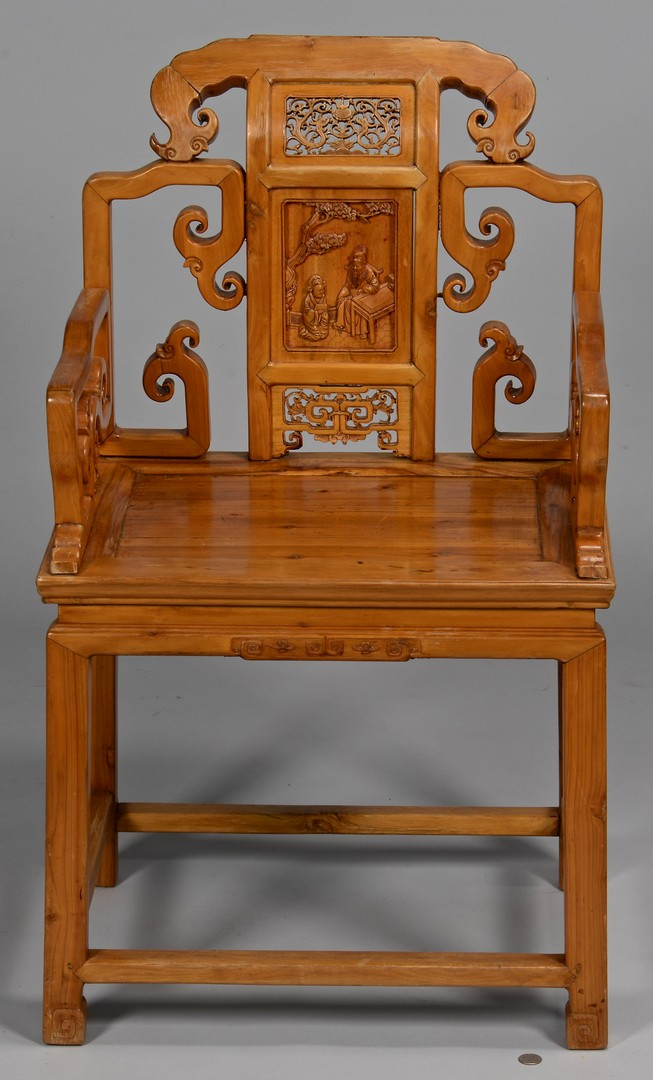 Lot 3832418: Chinese Hardwood Throne Chair