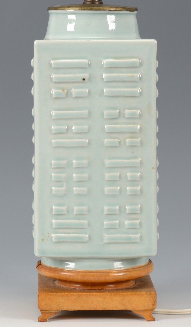 Lot 3832431: Chinese Celadon Kong Lamp