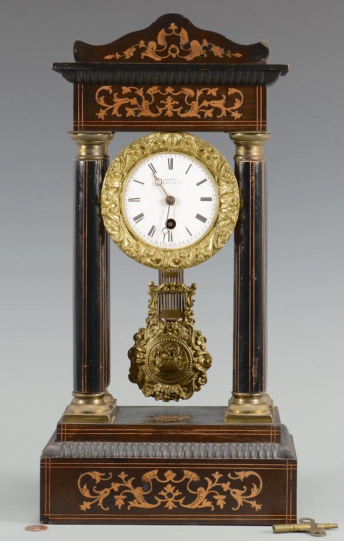 Lot 3832433: French Empire Portico Clock