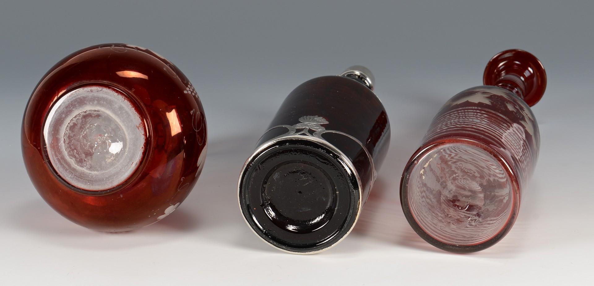 Lot 3832434: 17 pcs assorted glass: Ruby, Amber, Bristol Blue