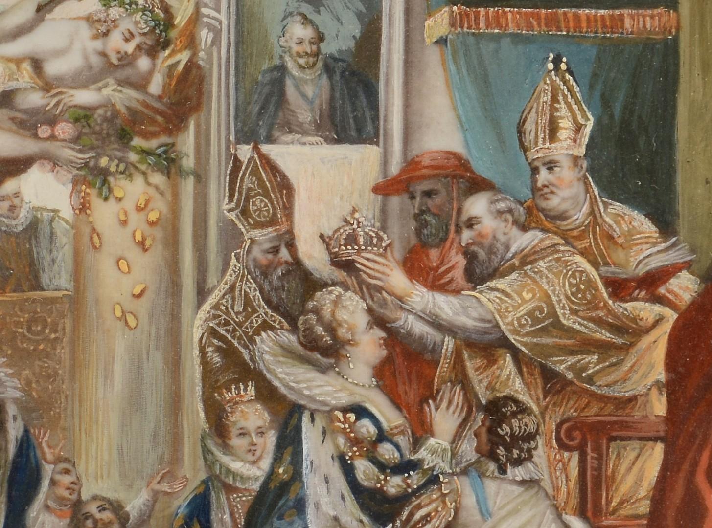 Lot 3832435: Miniature Coronation Painting, signed