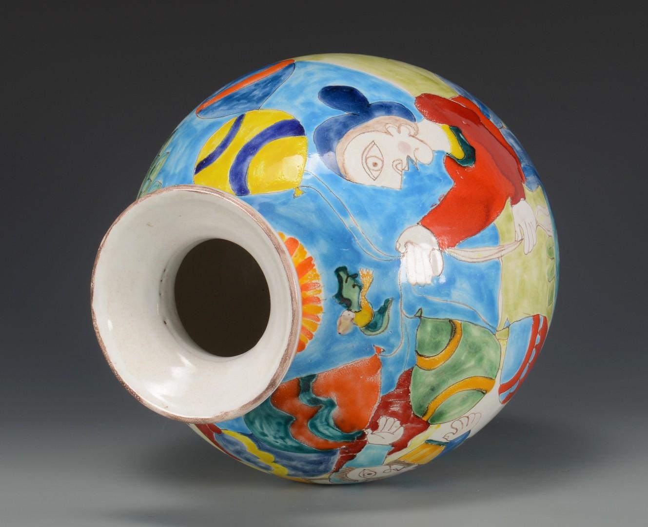 Lot 3832439: 2 Vases, Large Chinese & Italian Mid-century