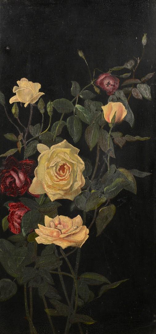 Lot 3832440: Attrib. G.C. Lambdin floral stil life, 19th c.