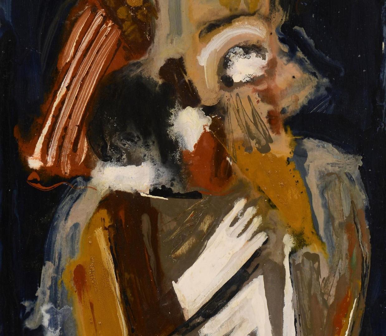 "Lot 3832449: Ted Burnett Abstract ""Queen"""