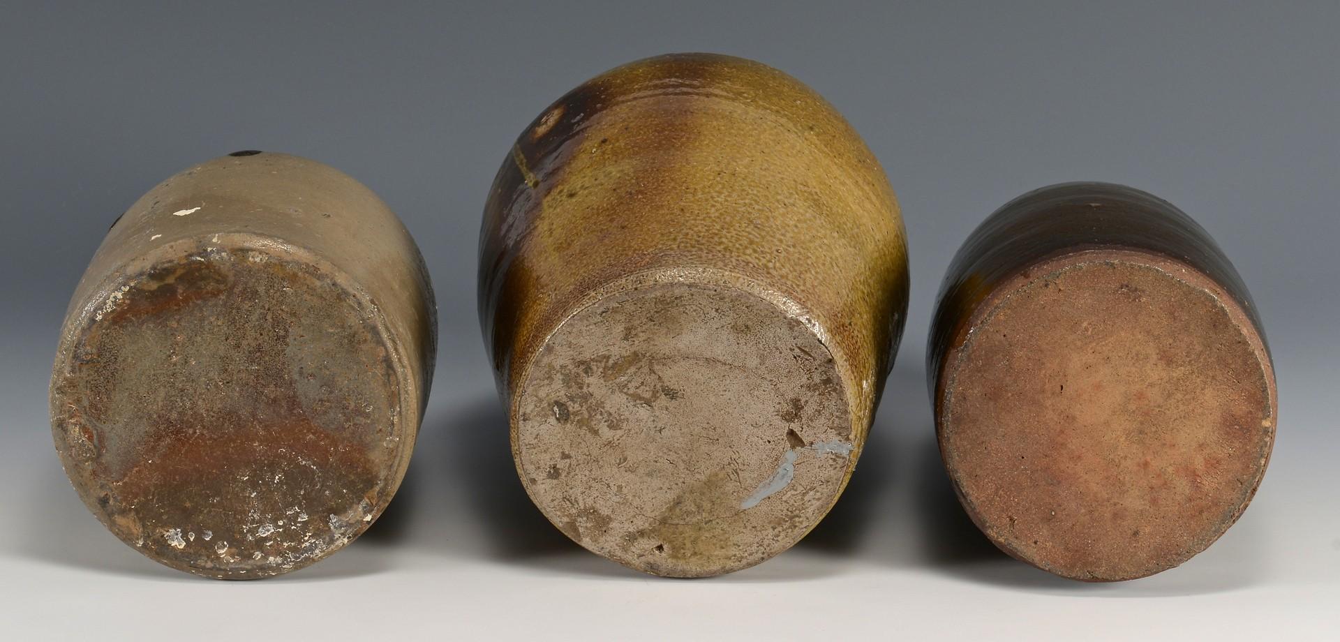 Lot 3832457: 3 Southern Pottery Forms, Salt Glaze
