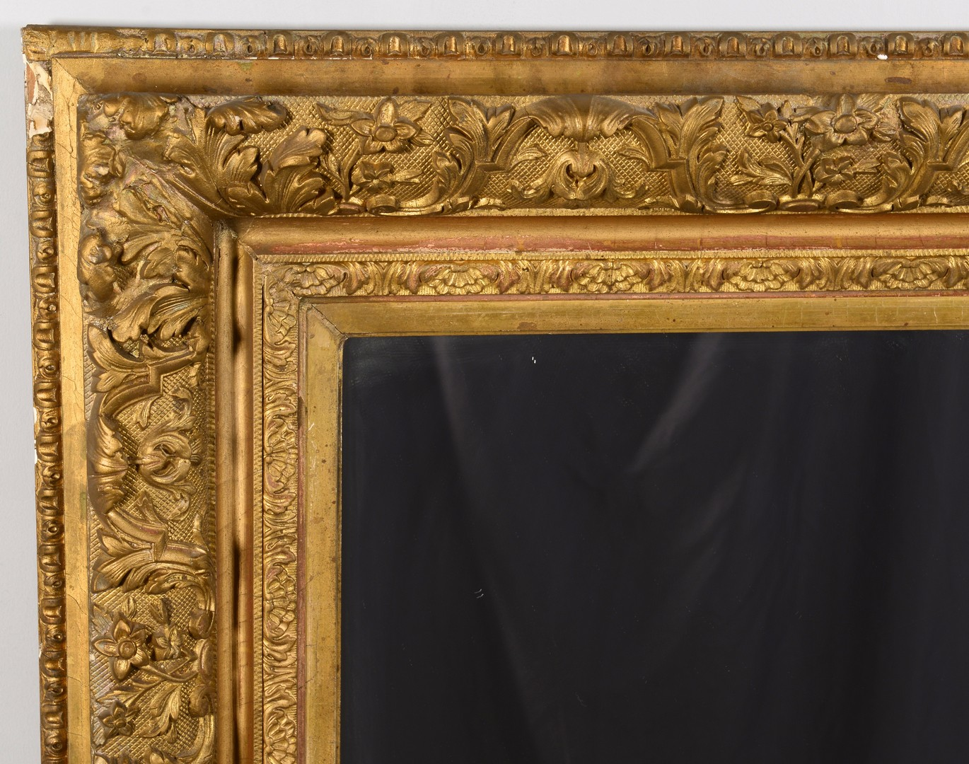 Lot 3832462: Large 19th Century Giltwood Mirror or Looking Glass