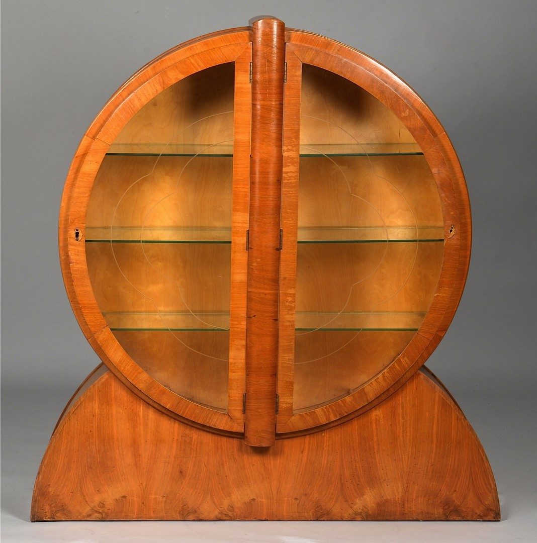 Lot 3832463: Art Deco Circular Display Cabinet