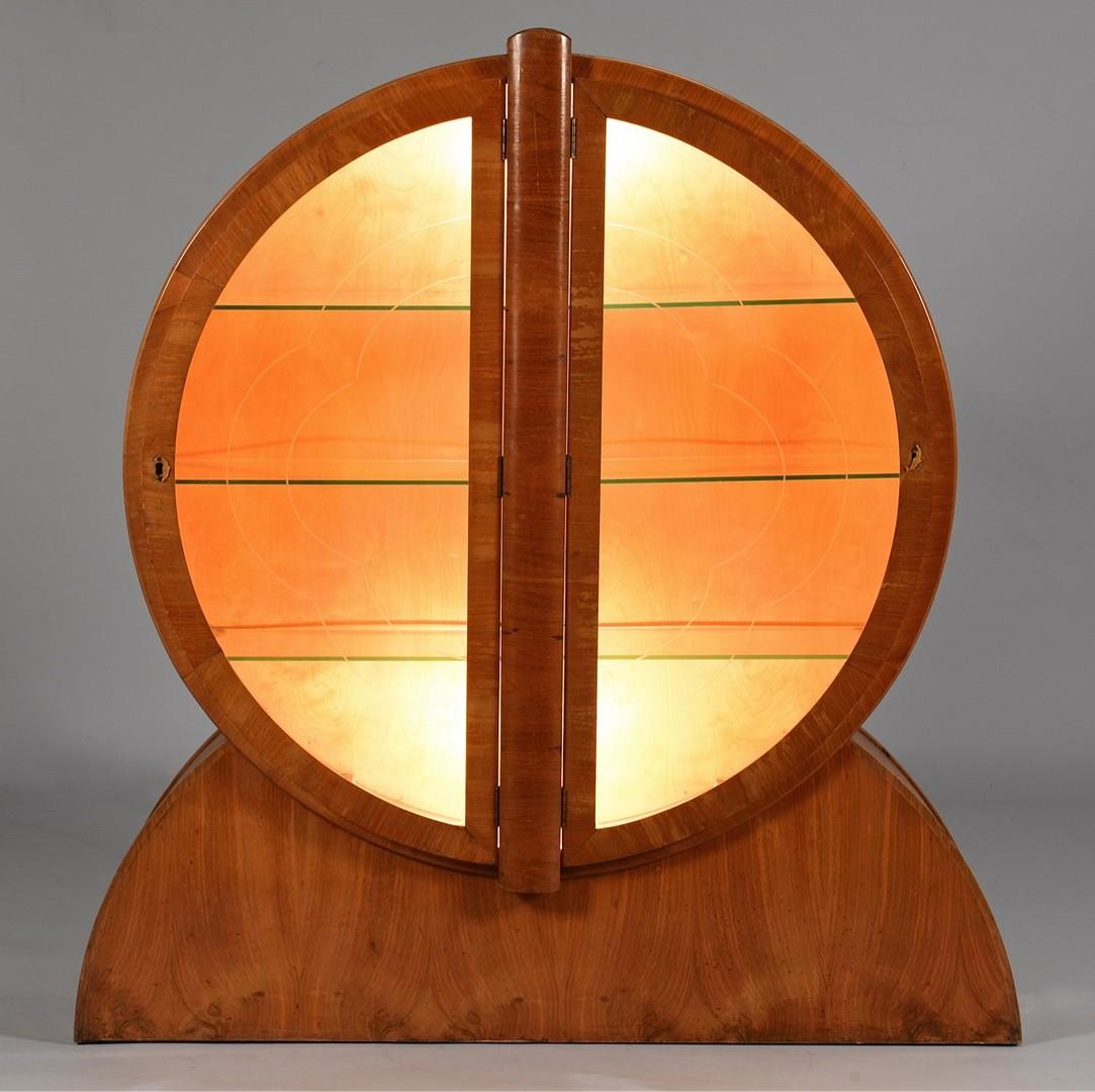 Lot 3832463: Art Deco Circular Display Cabinet