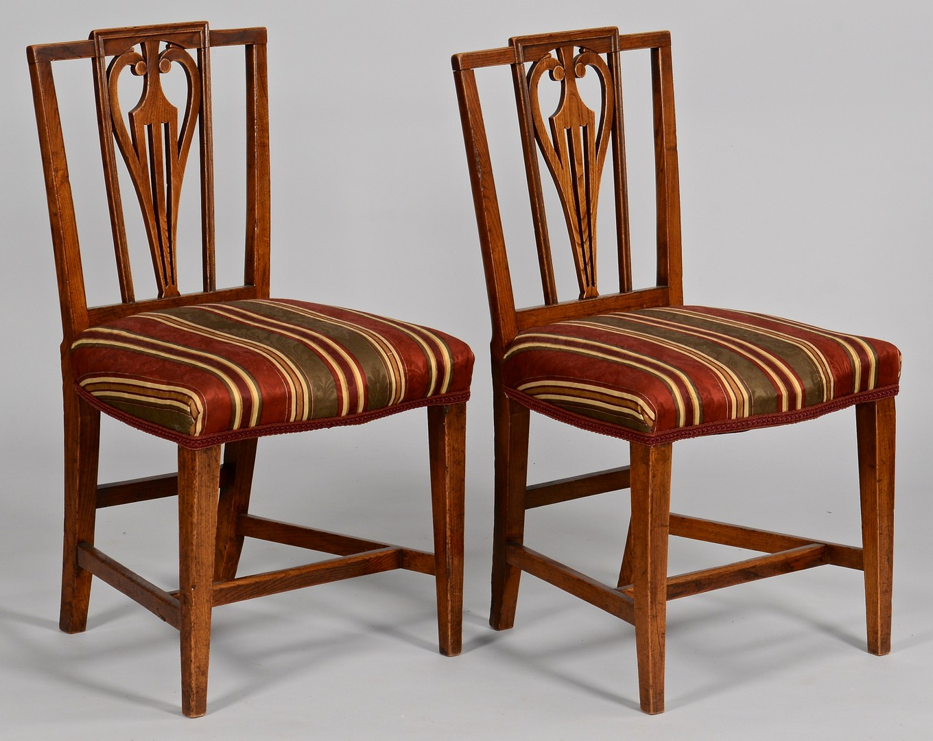 Lot 101: Set of 6 English Dining Chairs c. 1800