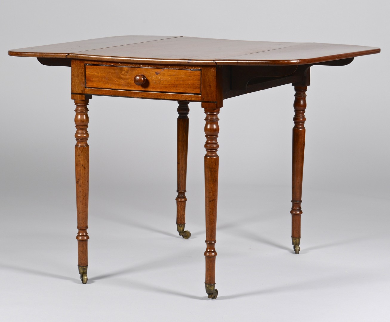 Lot 102: Diminutive Sheraton Mahogany Pembroke Table