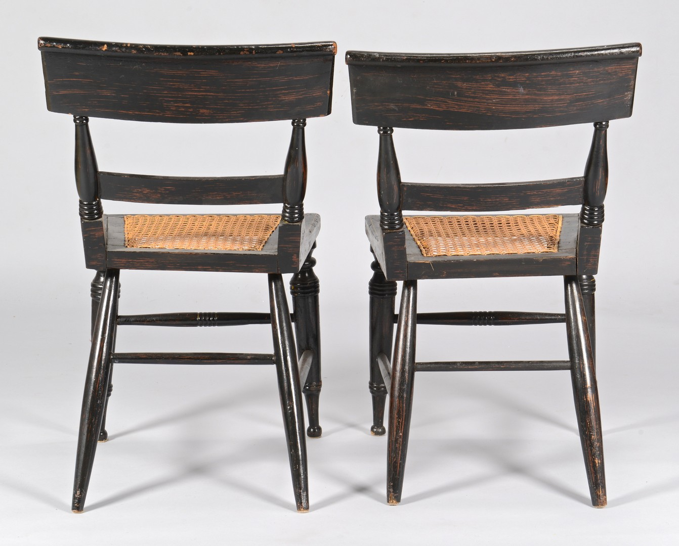 Lot 103: Pair Baltimore painted classical side chairs