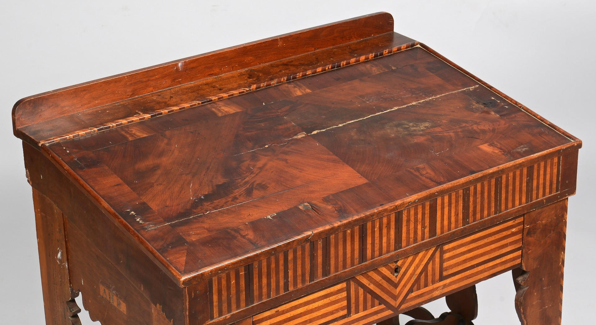 Lot 105: 1851 KY Inlaid and Carved Desk, Signed