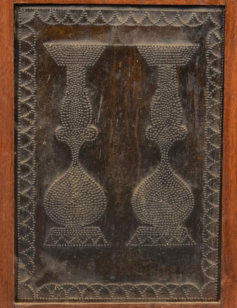 Lot 107: East TN Walnut Piesafe, Unusual Tin Design