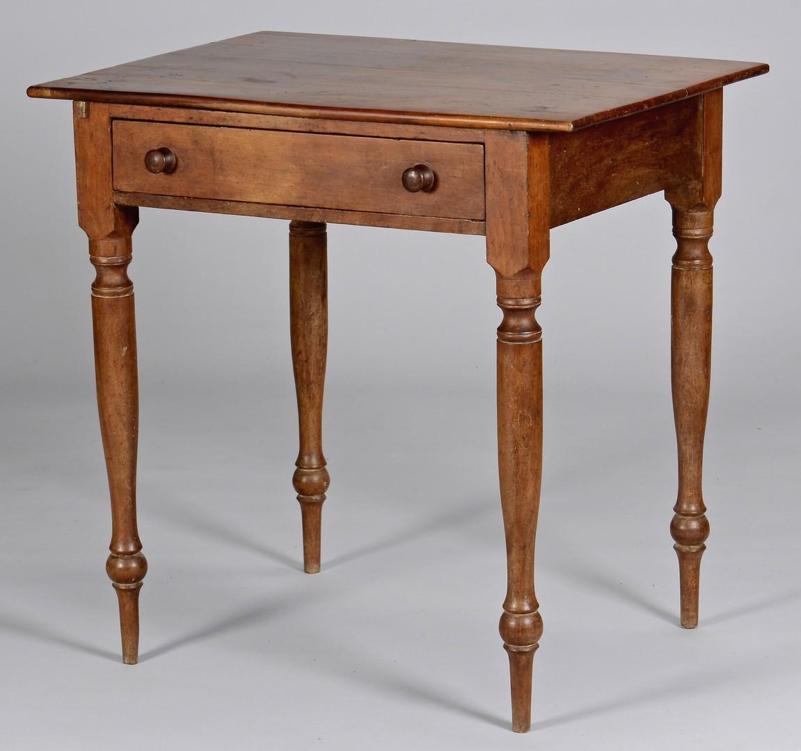 Lot 109: East TN Cherry Work Table, Greene or Knox