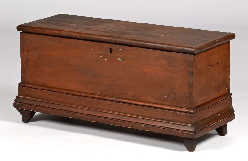 Lot 110: Painted East TN Blanket Box, Illustrated