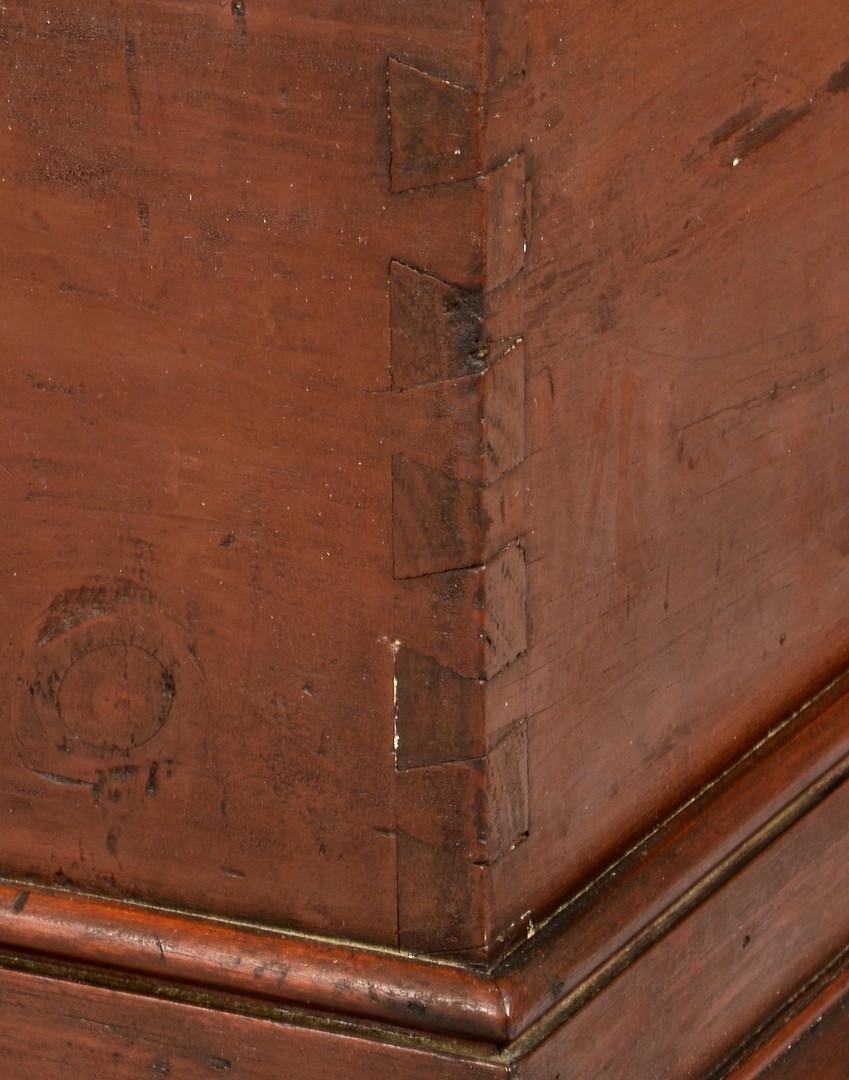 Lot 110: Painted East TN Blanket Box, Illustrated