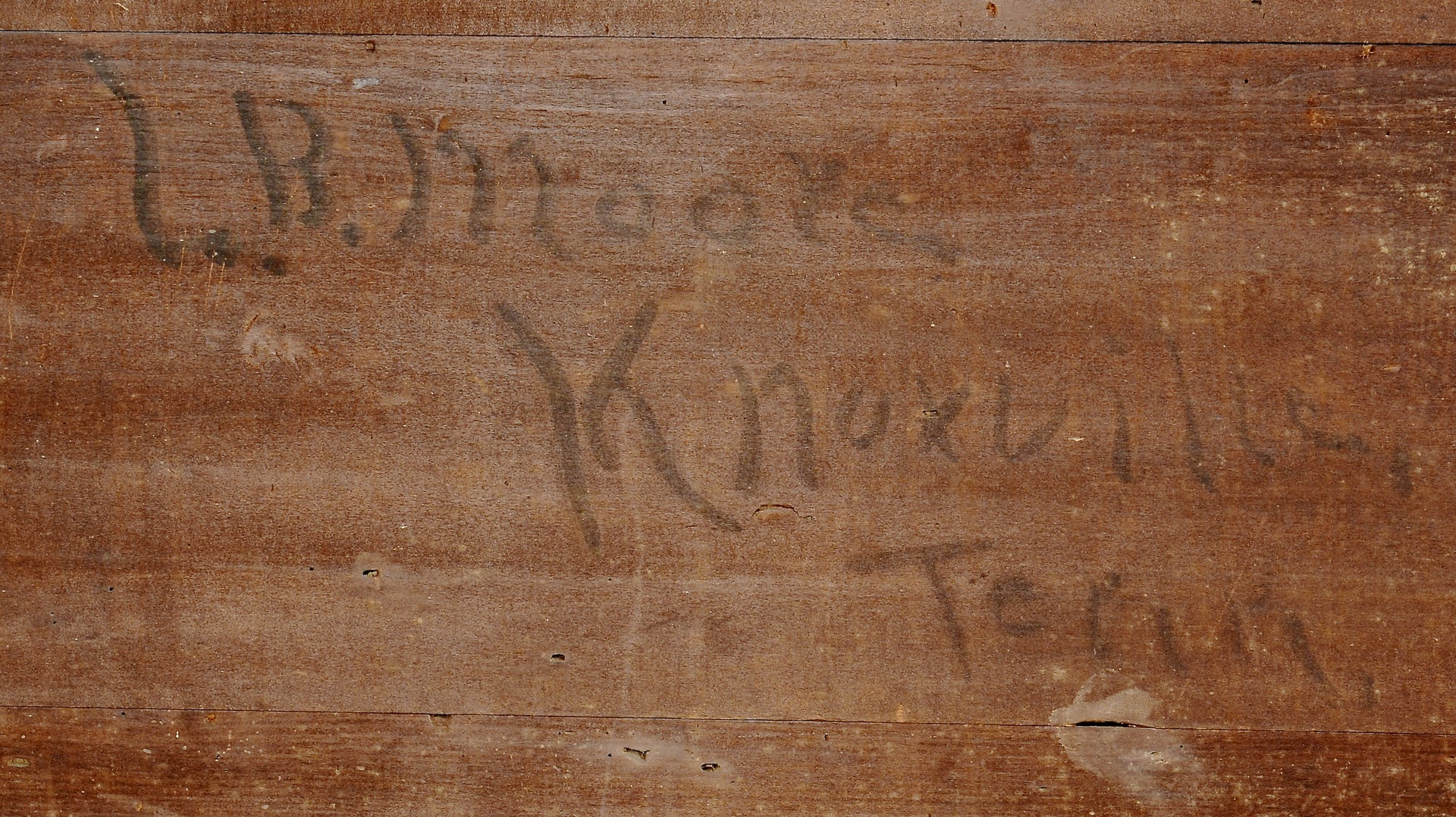 Lot 117: Knox Co. TN Walnut Chest of Drawers, inscription
