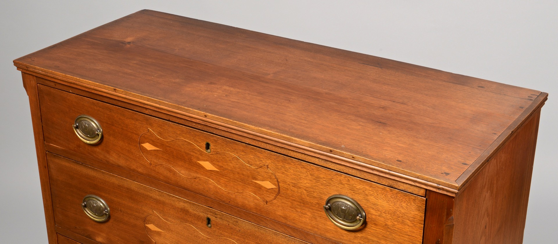 Lot 118: Greene County, TN Inlaid Chest of Drawers