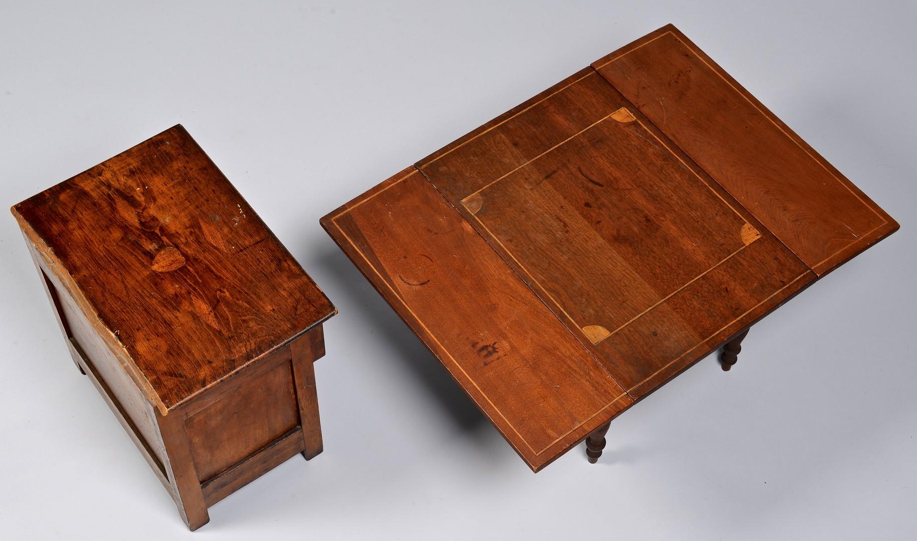 Lot 121: Miniature East TN Table & Cupboard