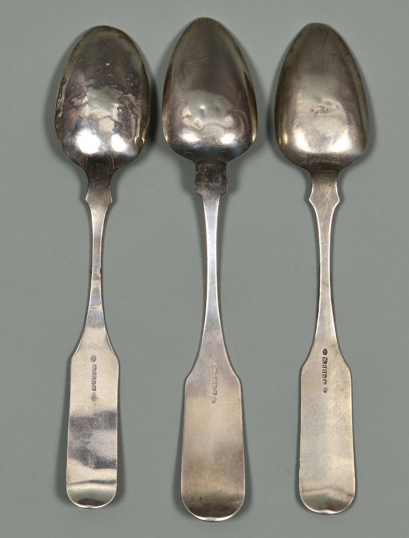 Lot 125: 3 Samuel Bell TN Tablespoons