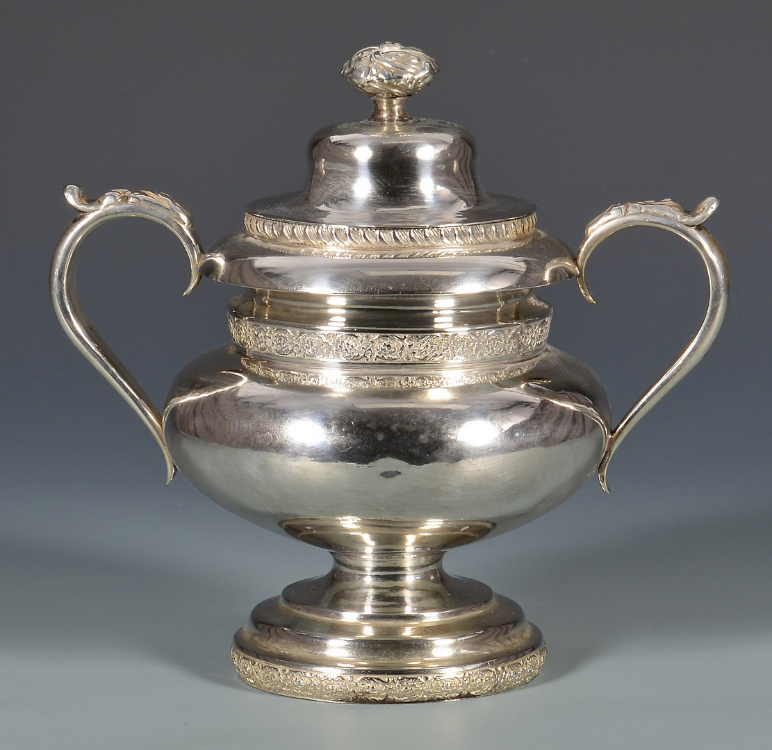Lot 126: F.H. Clark Memphis coin silver sugar bowl
