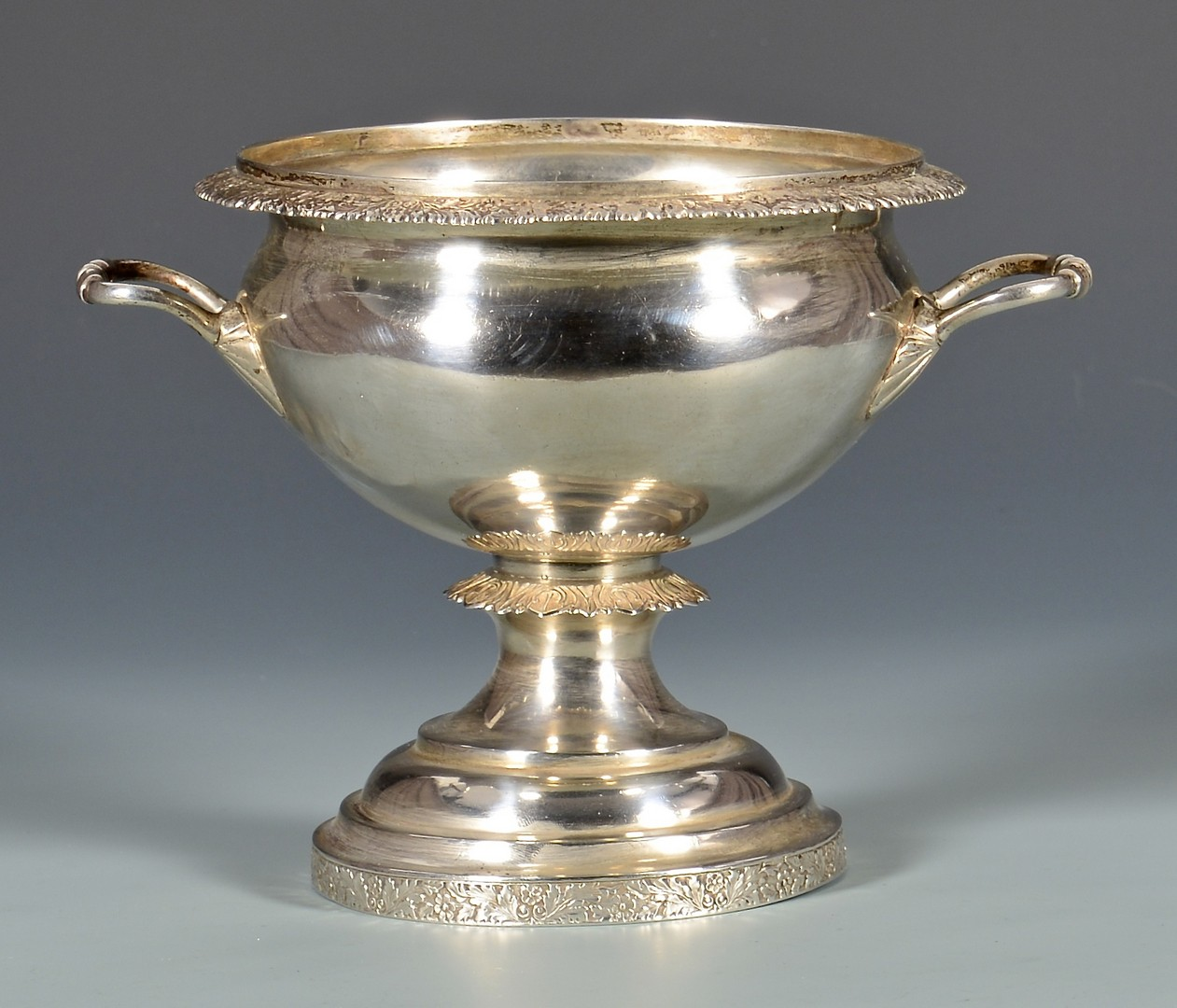 Lot 128: F.H. Clark Memphis coin silver waste bowl
