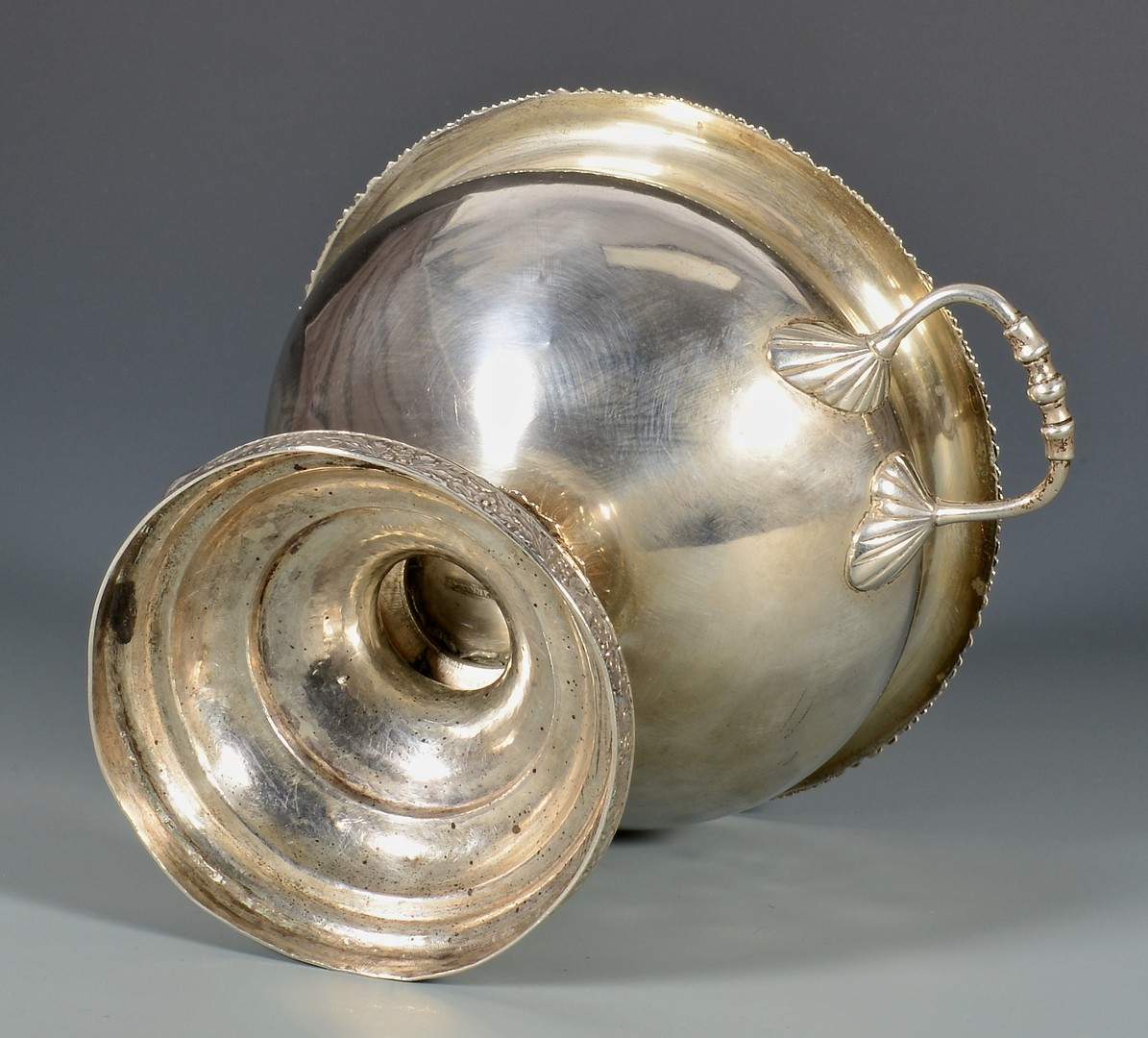 Lot 128: F.H. Clark Memphis coin silver waste bowl