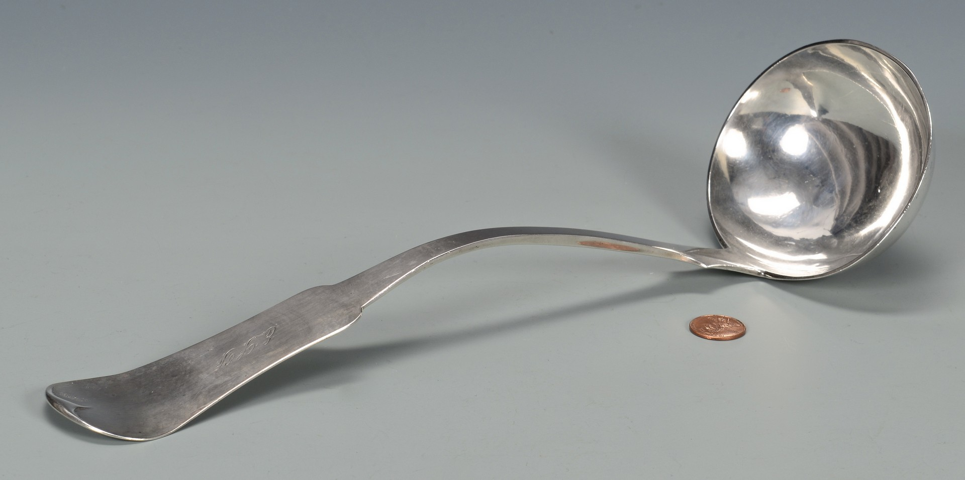 Lot 129: Donigan Nashville Coin Silver Ladle