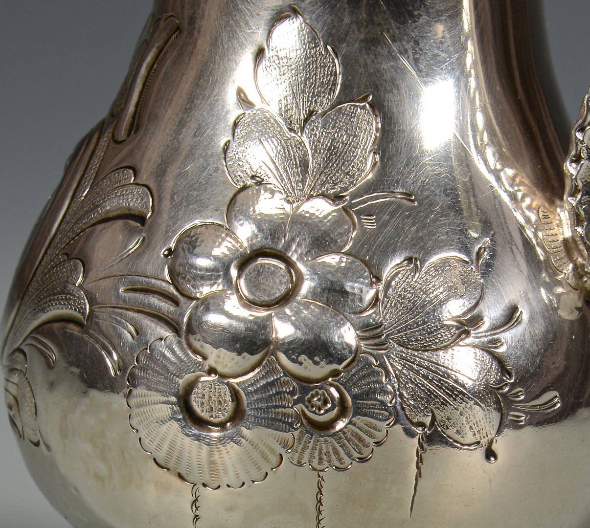 Lot 130: T. Gowdey Nashville Coin Silver Creamer