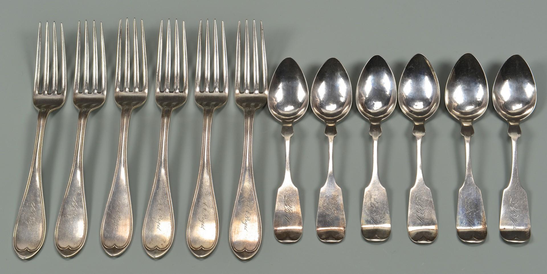 Lot 132: 6 Calhoun Nashville spoons plus 6 forks