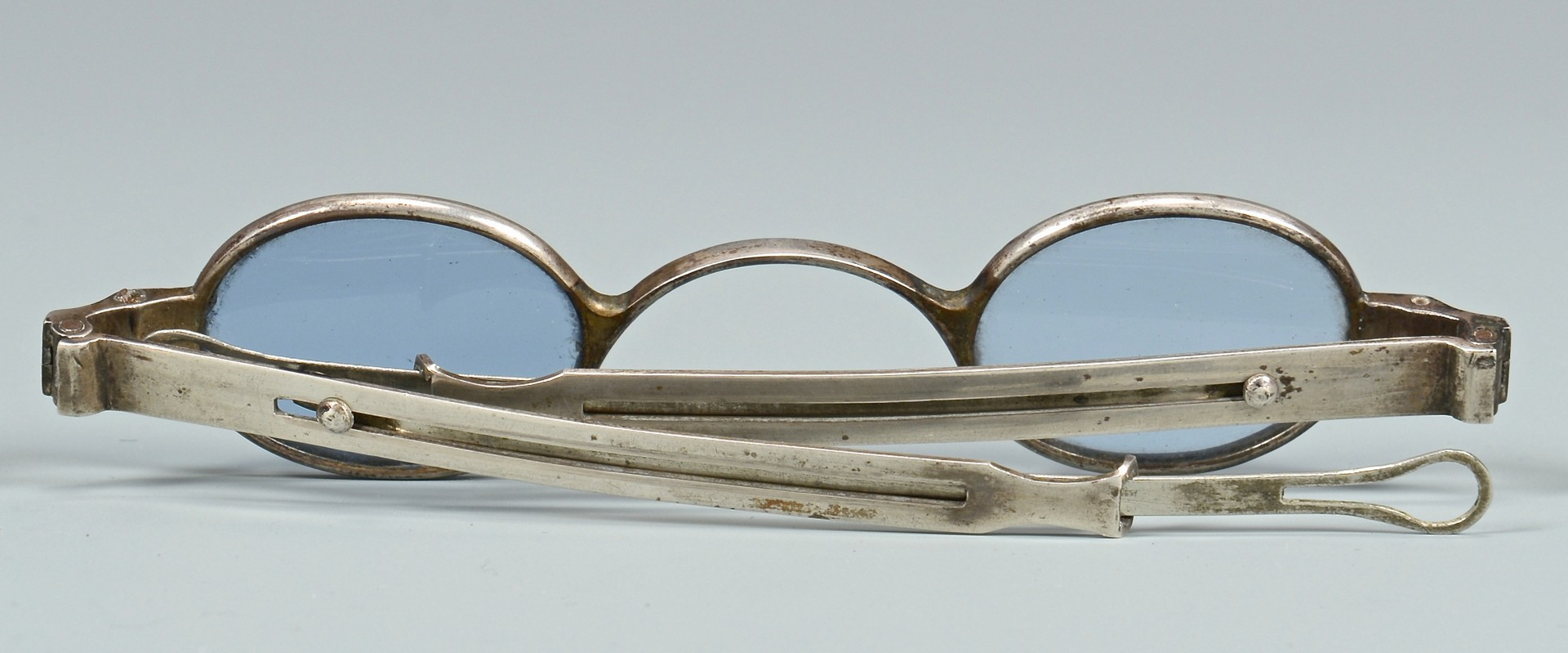 Lot 133: TN J. S. Curtis Marked Silver Spectacles