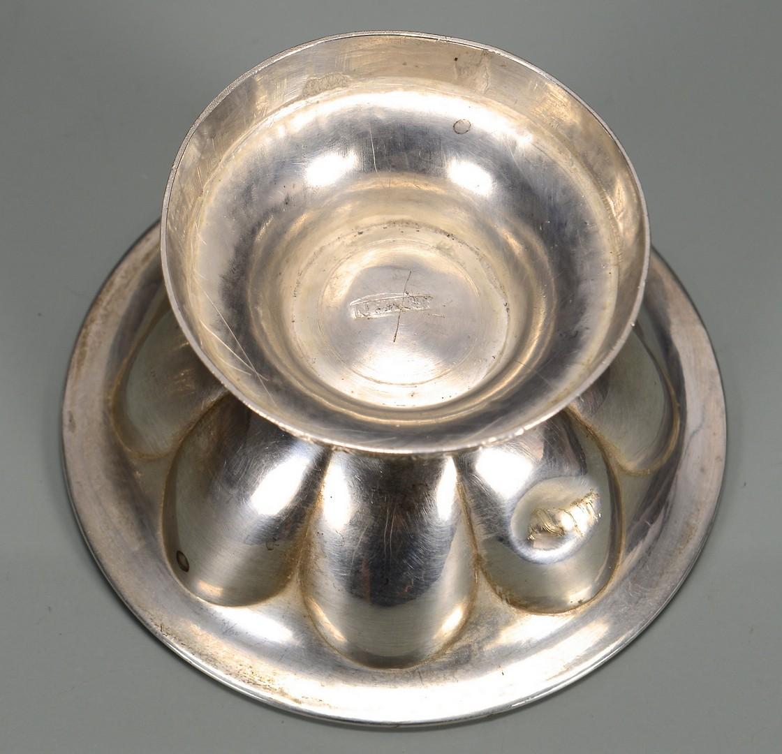 Lot 138: TN Coin Silver Salt Cellars & Spoon