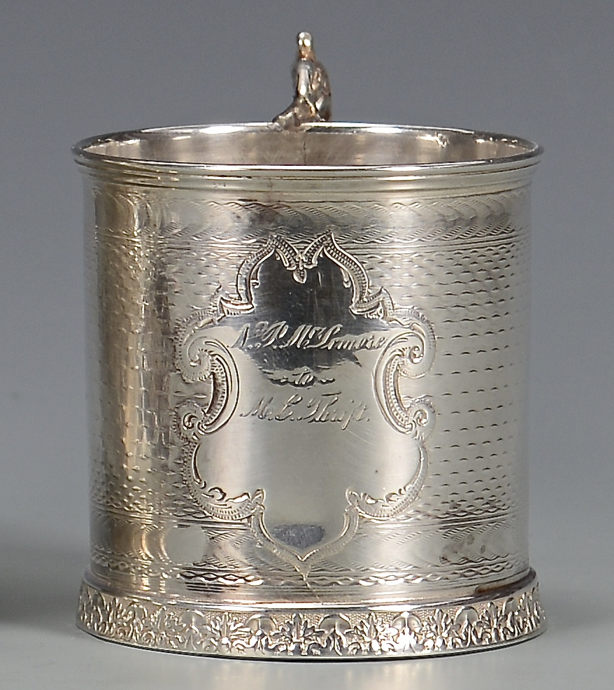 Lot 139: 3 Coin Silver Cups inc. Merriman, Clark