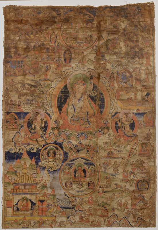 Lot 13: Tibetan Thangka, late 1700s