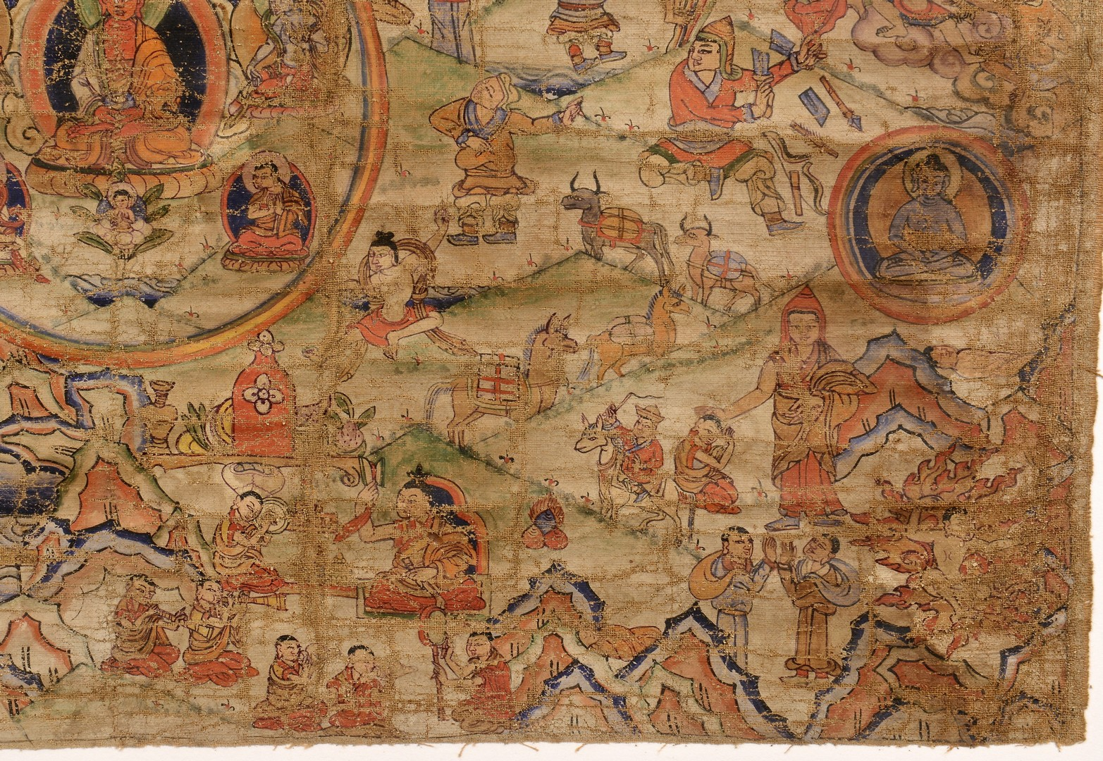 Lot 13: Tibetan Thangka, late 1700s