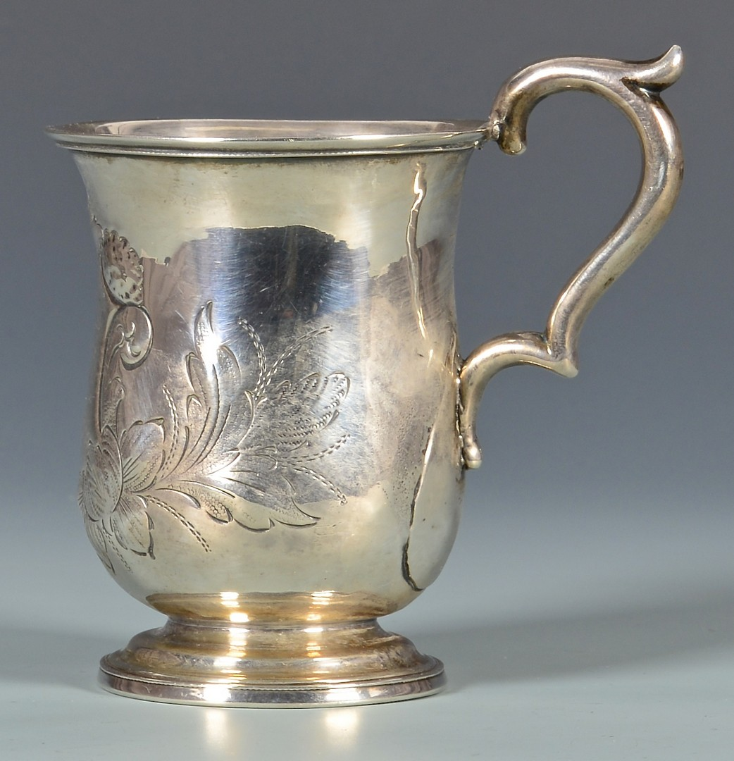 Lot 143: Gowdey TN Coin Silver cup