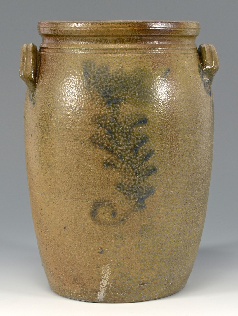 Lot 146: East TN Decker Stoneware Jar, Cobalt Flowers
