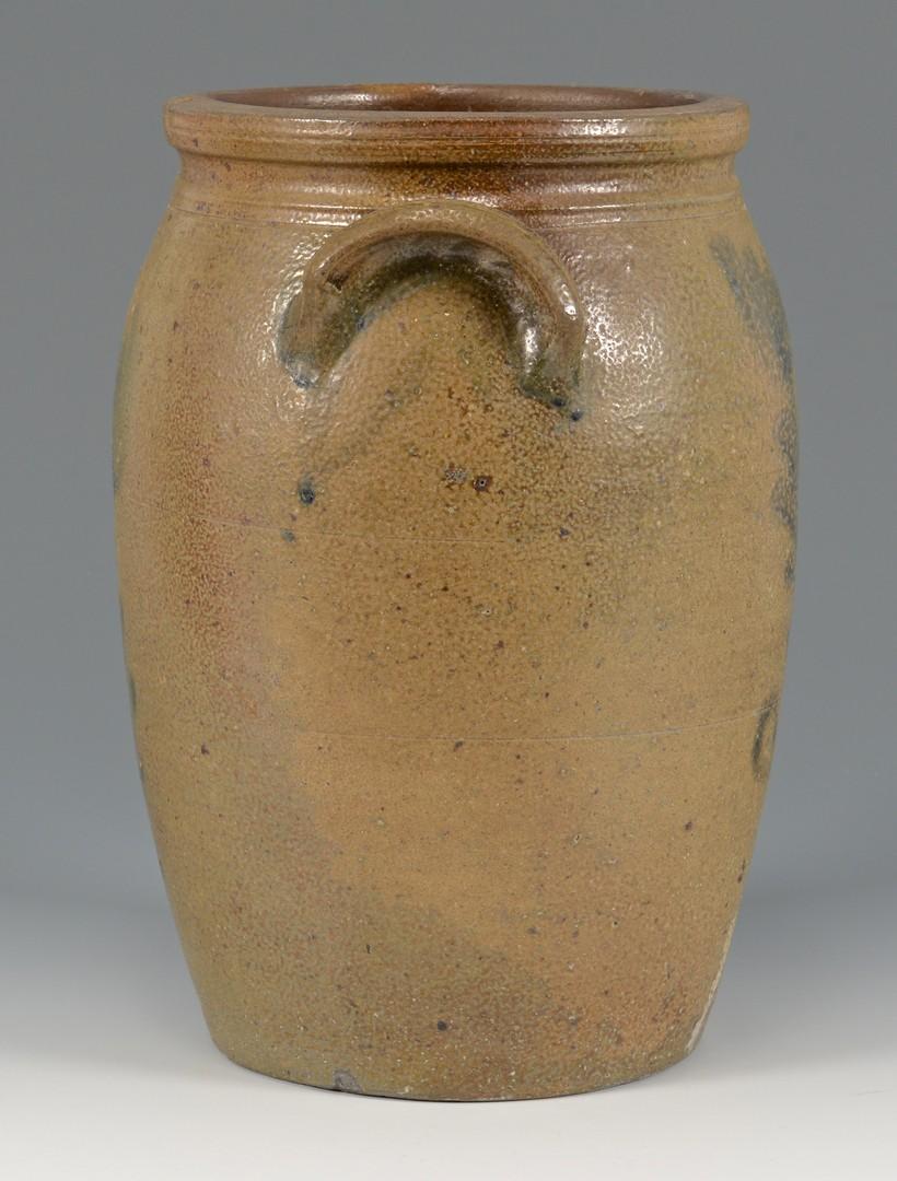 Lot 146: East TN Decker Stoneware Jar, Cobalt Flowers