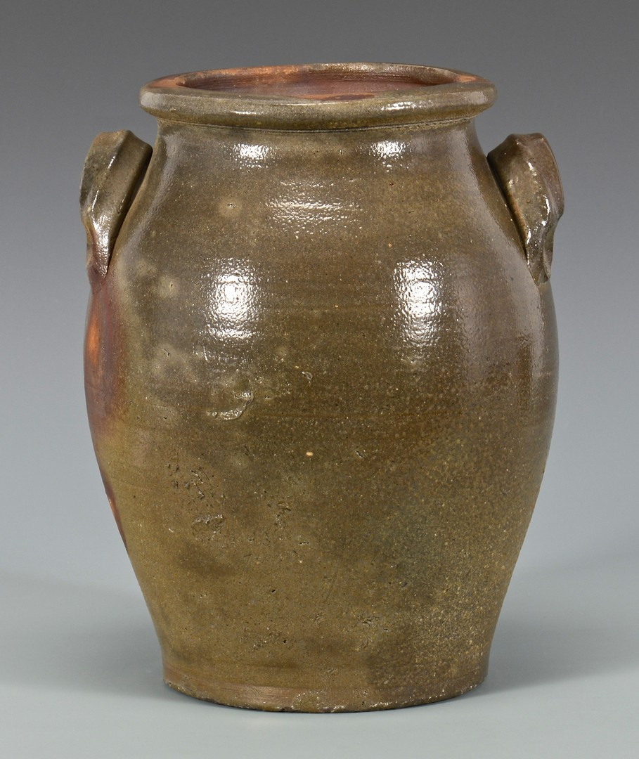 Lot 147: 2 East TN Greene Co. Jars, extruded handles