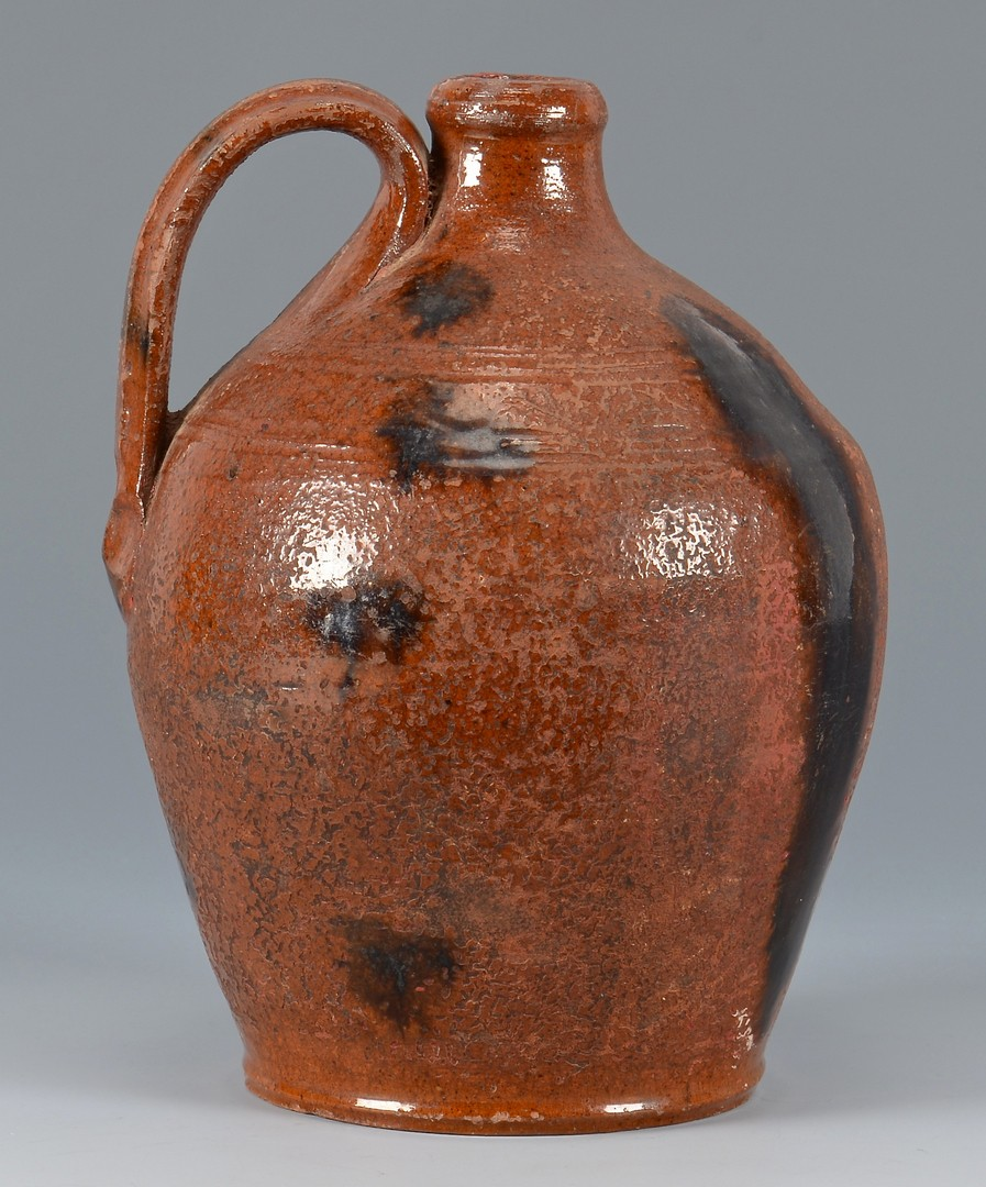 Lot 148: East TN Earthenware Glazed Pottery Jug