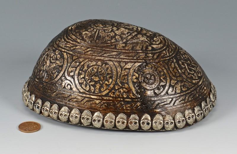Lot 14: Tibetan Silver Mounted Skull Bowl