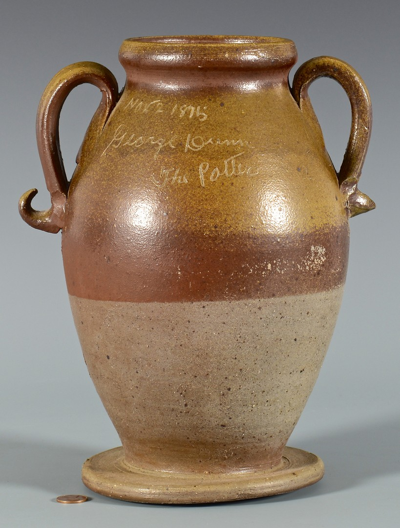 Lot 150: George Dunn Pottery Jar, Signed & Dated