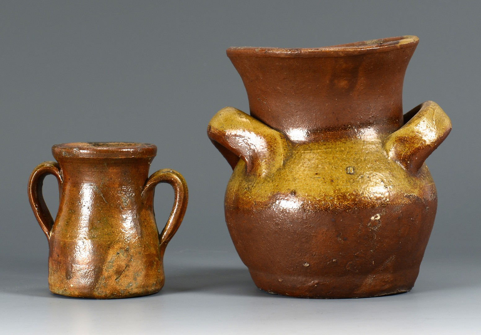 Lot 151: 3 Middle TN Pottery Handled Jars