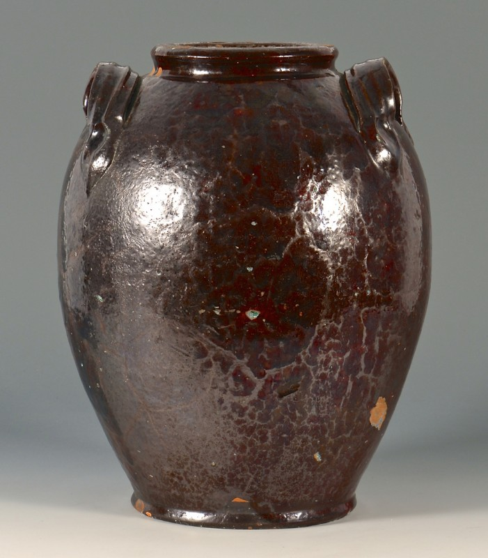 Lot 153: Southwest Virginia Earthenware glazed jar