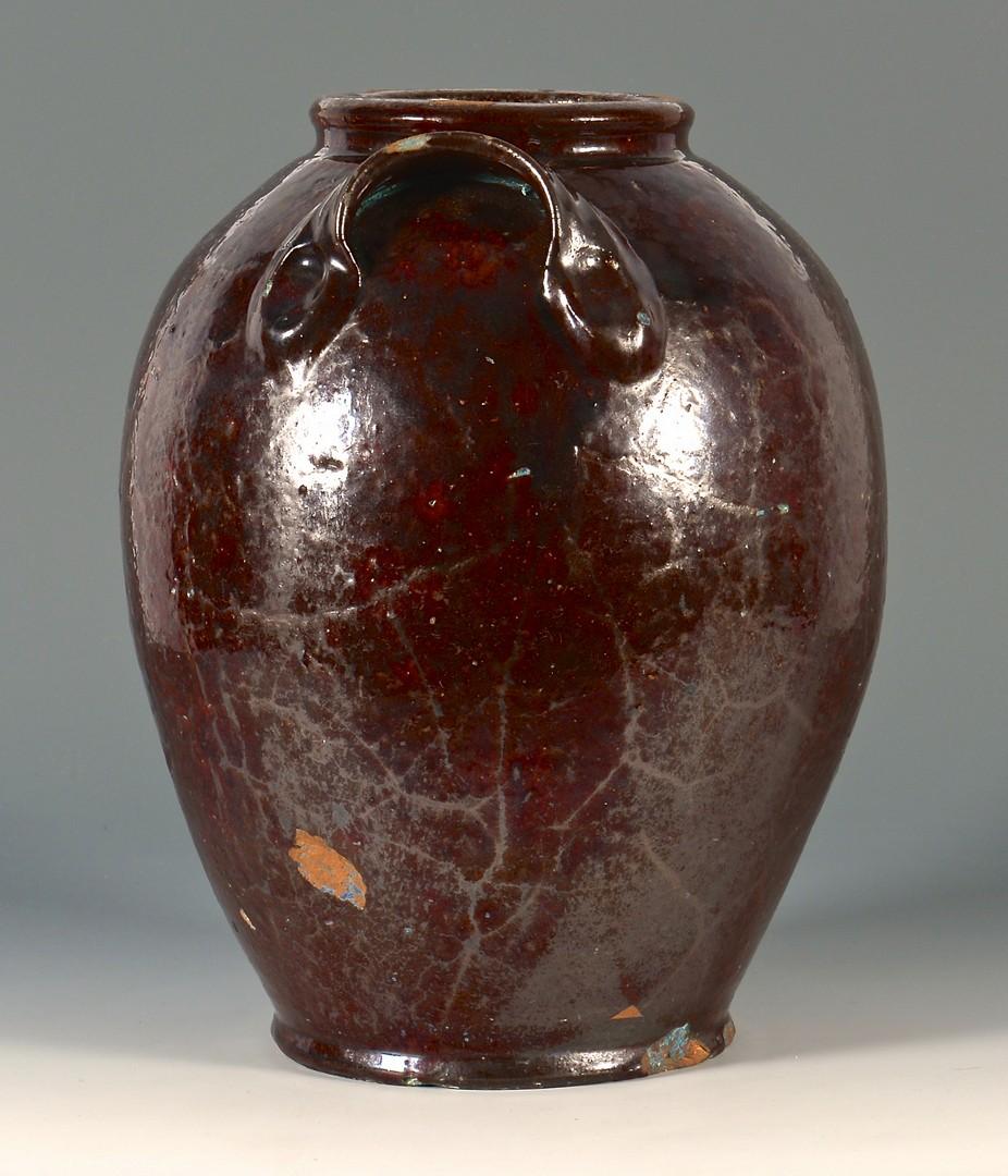 Lot 153: Southwest Virginia Earthenware glazed jar