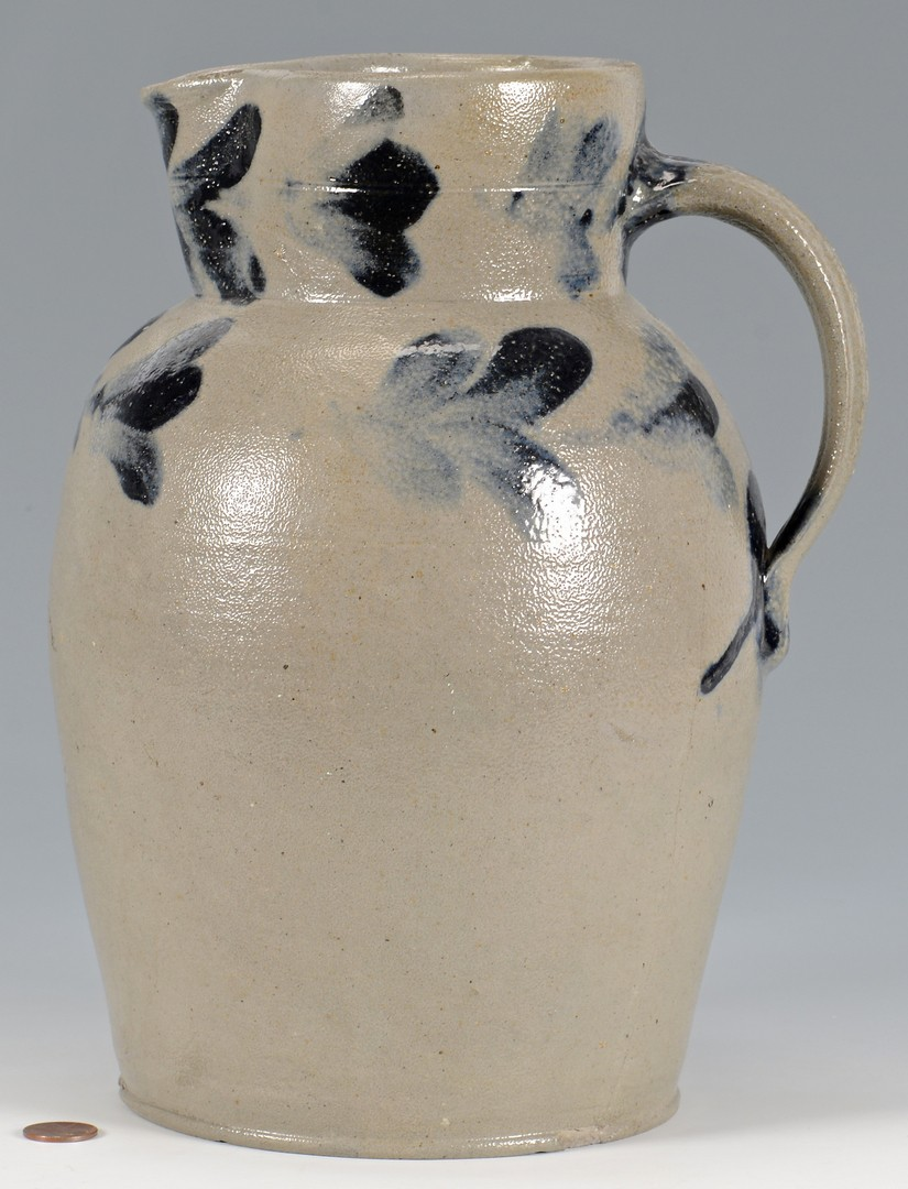 Lot 157: Cobalt Decorated Stoneware Pitcher