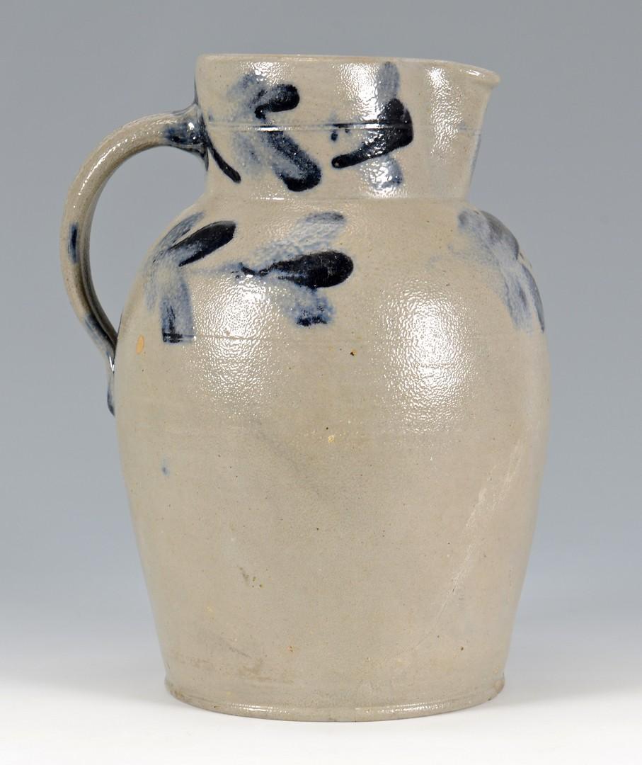 Lot 157: Cobalt Decorated Stoneware Pitcher