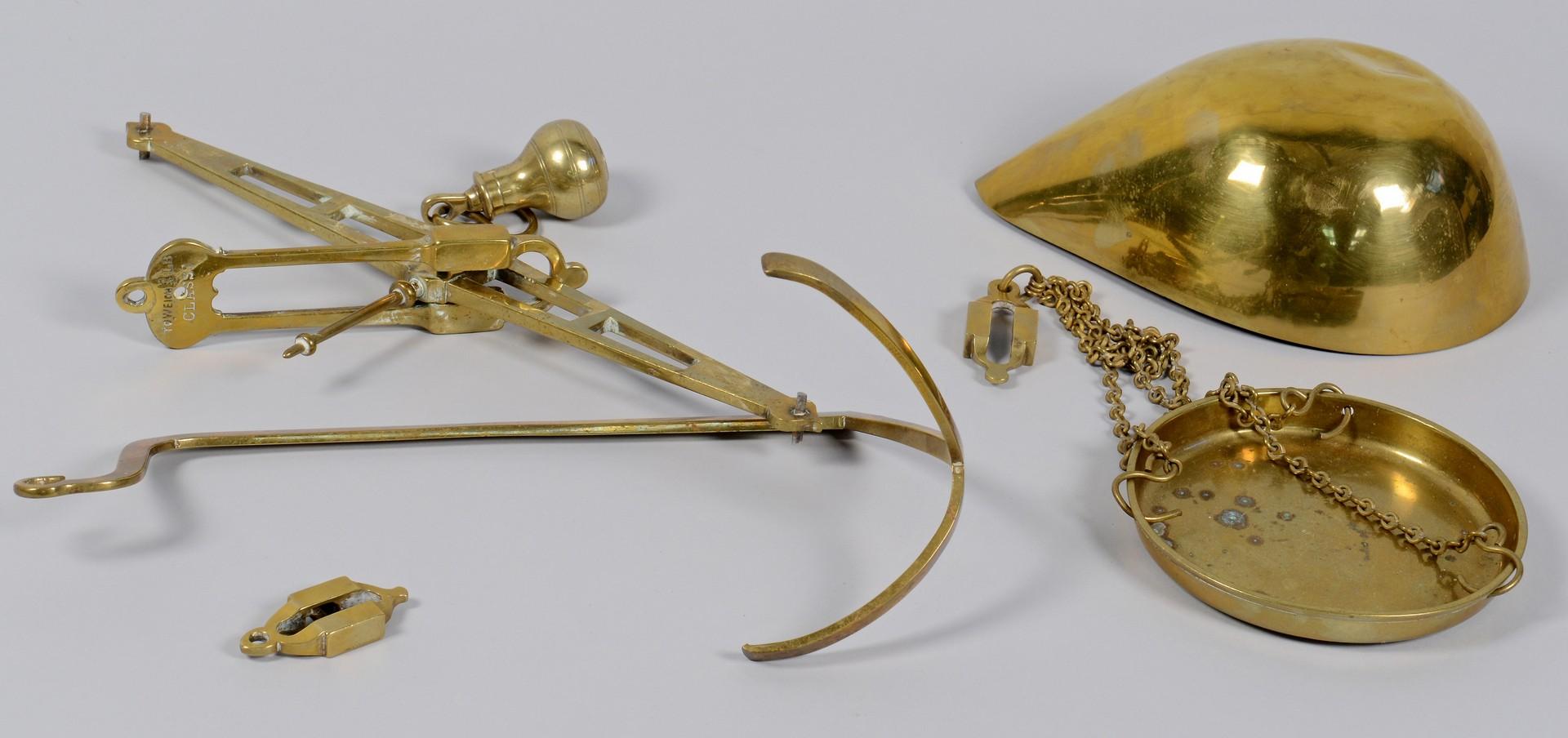 Lot 158: Bartlett Brass Scales w/ Lap Desks